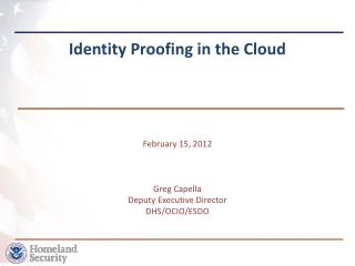 Identity Proofing in the Cloud