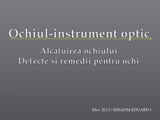 Ochiul -instrument optic