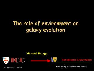 The role of environment on galaxy evolution