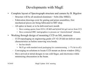 Developments with MagE