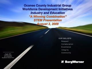 Oconee County Industrial Group Workforce Development Initiatives Industry and Education
