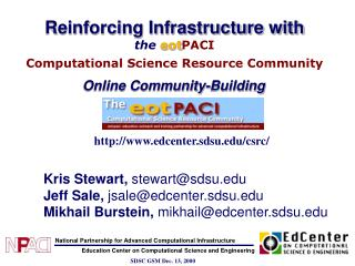 Reinforcing Infrastructure with the  eot PACI Computational Science Resource Community