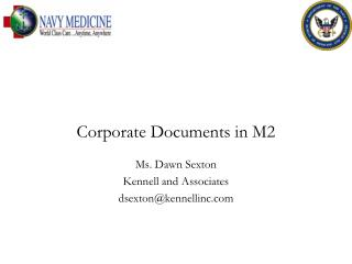 Corporate Documents in M2