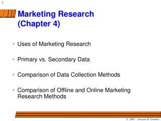 Marketing Research (Chapter 4)