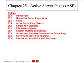 Chapter 25 - Active Server Pages (ASP)