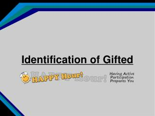 Identification of Gifted