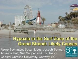 Hypoxia in the Surf Zone of the Grand Strand: Likely Causes