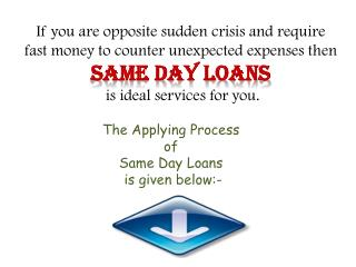 Same Day Loans- A Perfect Fiscal Solution with Easy Repaymen