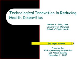 Technological Innovation in Reducing Health Disparities