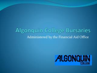 Algonquin College Bursaries