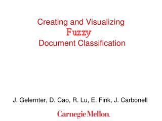 Creating and Visualizing  Document Classification