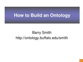 How to Build an Ontology