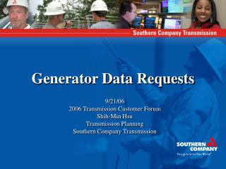 Generator Data Requests
