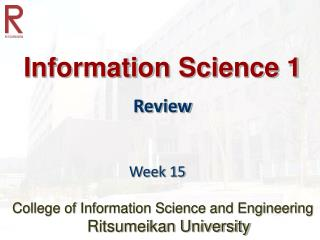 Information Science 1 Review