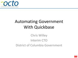 Automating Government With Quickbase