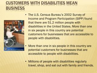 Customers with Disabilities Mean Business