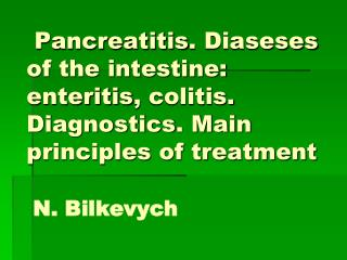 Chronic pancreatitis  ( CP ) -