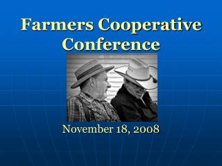 Farmers Cooperative Conference