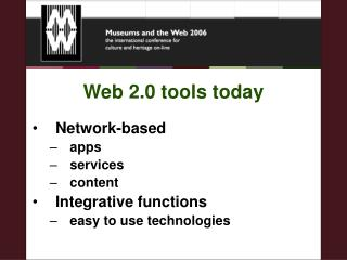 Web 2.0 tools today