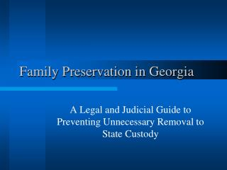 Family Preservation in Georgia