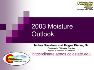 2003 Moisture Outlook
