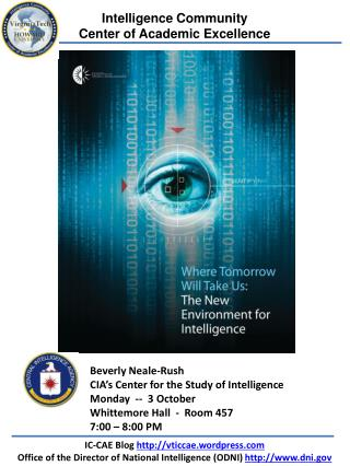 Intelligence Community  Center of Academic Excellence