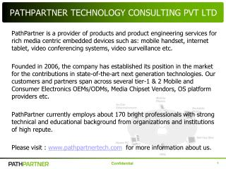 PATHPARTNER TECHNOLOGY CONSULTING PVT LTD
