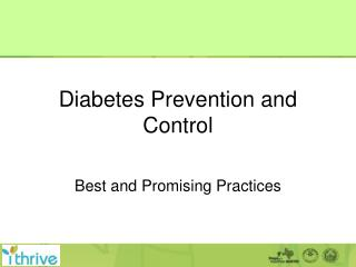 Diabetes Prevention and Control