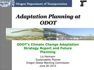 Adaptation Planning at ODOT
