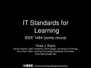 IT Standards for Learning