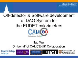 Off-detector & Software development of DAQ System for  the EUDET calorimeters