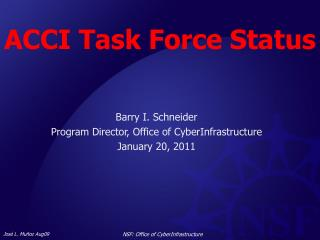 ACCI Task Force Status