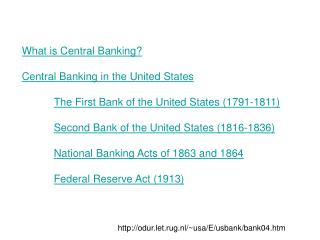 What is Central Banking? Central Banking in the United States