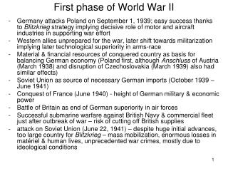 First phase of World War II