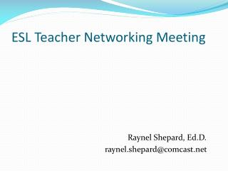 ESL Teacher Networking Meeting