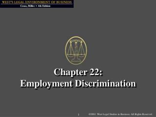 Chapter 22: Employment Discrimination