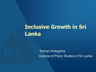 Inclusive Growth in Sri Lanka