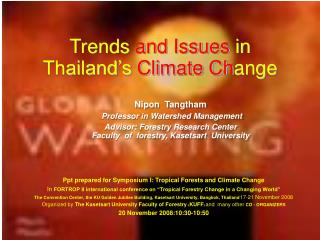 Trends  and Issues  in Thailand's  Climate Ch ange