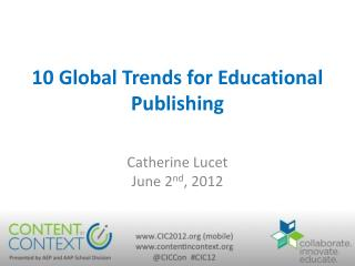 10 Global Trends for Educational Publishing