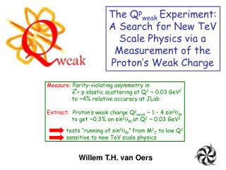 The Q p weak  Experiment: