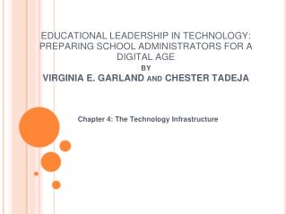 Chapter 4: The Technology Infrastructure