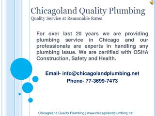 Commercial Plumber Service - Chicagoland Quality Plumbing