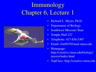 Immunology Chapter 6, Lecture 1