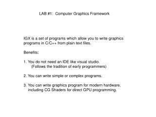 LAB #1: Computer Graphics Framework