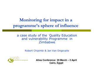 Monitoring for impact in a programme's sphere of influence