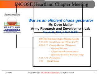 INCOSE Heartland Chapter Meeting