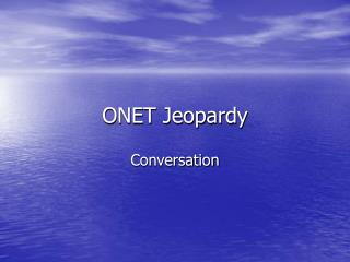 ONET Jeopardy