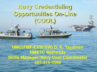 Navy Credentialing Opportunities On-Line (COOL)