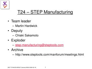 T24 – STEP Manufacturing