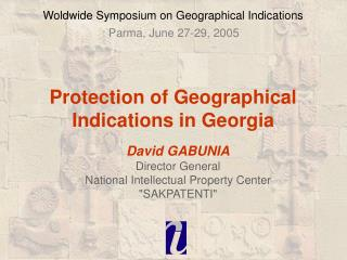 Woldwide Symposium on Geographical Indications
